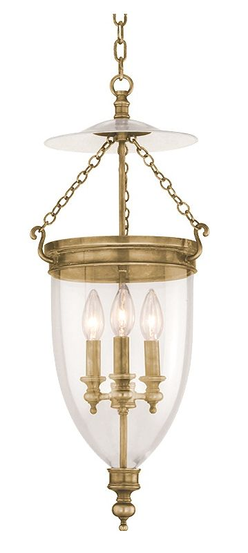 Hudson Valley Lighting 142 Three Light Pendant from the Hanover Sale $1018.00 ITEM#: 524887 MODEL# :142-AGB UPC#: 806134003524 :