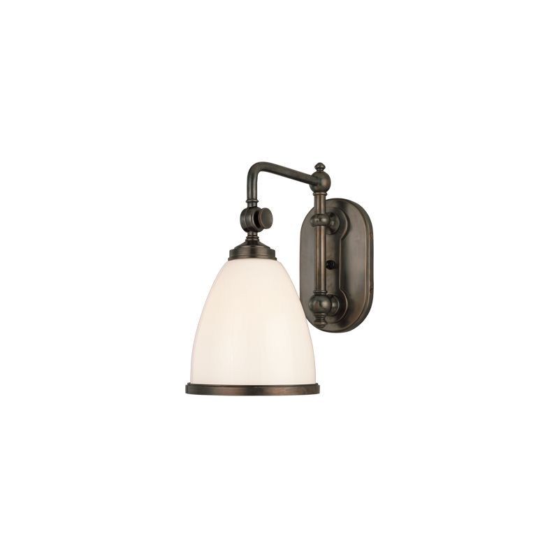 Wall Sconce With On Off Switch Bronze : Hudson Valley Lighting 1428ob Old Bronze Swing Arm Somerset Collection 1 Light Wall Sconce 6