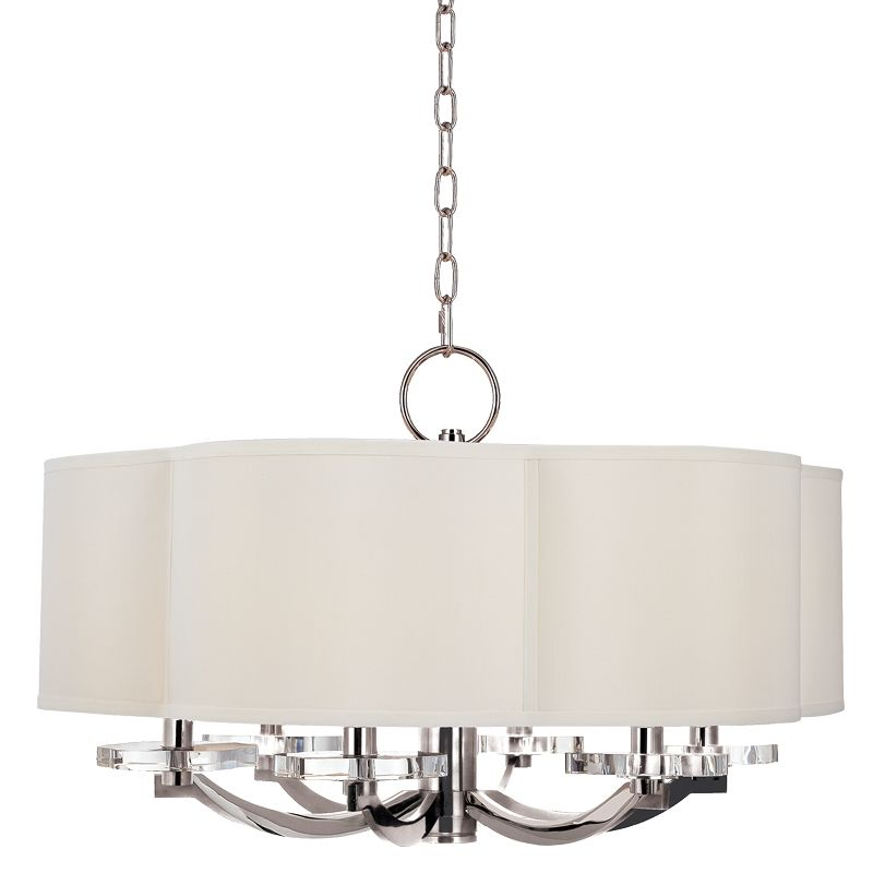 Hudson Valley Lighting 1426 Garrison 6 Light Drum Chandelier with Faux