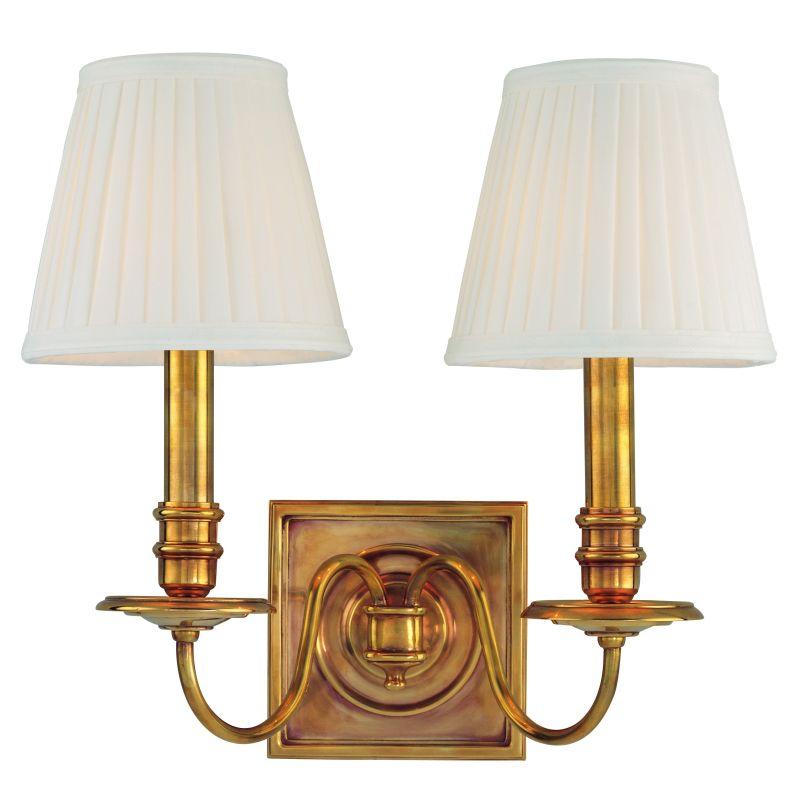 Hudson Valley Lighting 202 Sheldrake 2 Light Solid Brass Double Wall