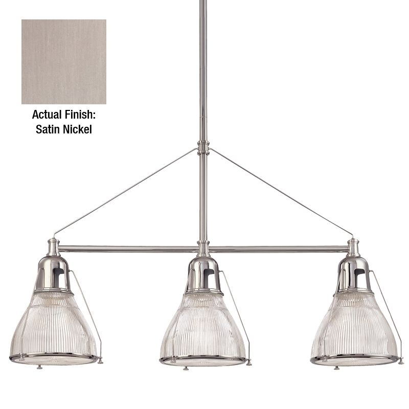 Hudson Valley Lighting 7313 Haverhill 3 Light Island Fixture with Sale $964.00 ITEM#: 982800 MODEL# :7313-SN UPC#: 806134094393 :