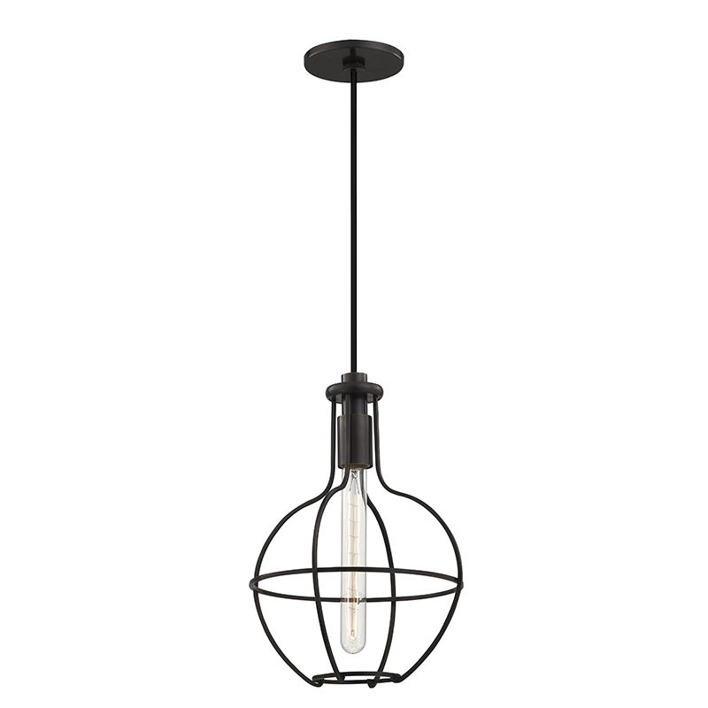 "Hudson Valley Lighting 1051 Colebrook Single Light 10"" Pendant with"