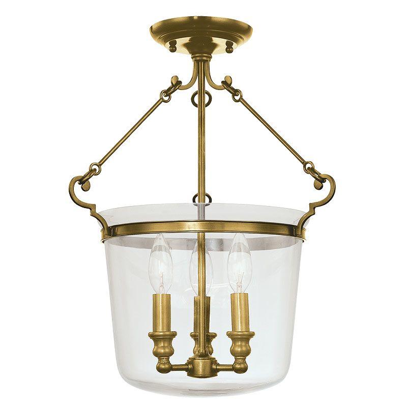 Hudson Valley Lighting 130 Three Light Semi Flush Ceiling Fixture from Sale $514.00 ITEM#: 982105 MODEL# :130-AGB UPC#: 806134094706 :