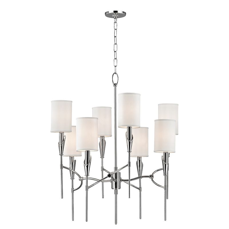 "Hudson Valley Lighting 1304 Tate 8 Light 30"" Tall Two Tier Chandelier"