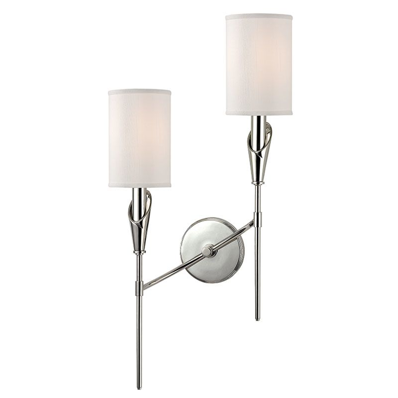 Hudson Valley Lighting 1312L Tate 2 Light Double Wall Sconce with Faux