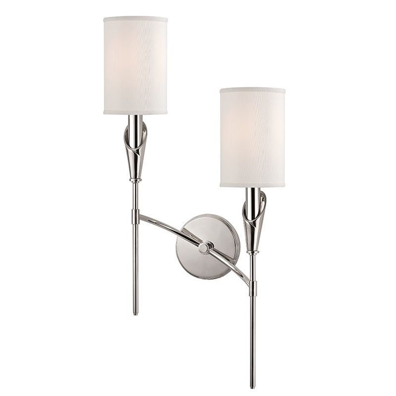 Hudson Valley Lighting 1312R Tate 2 Light Double Wall Sconce with Faux