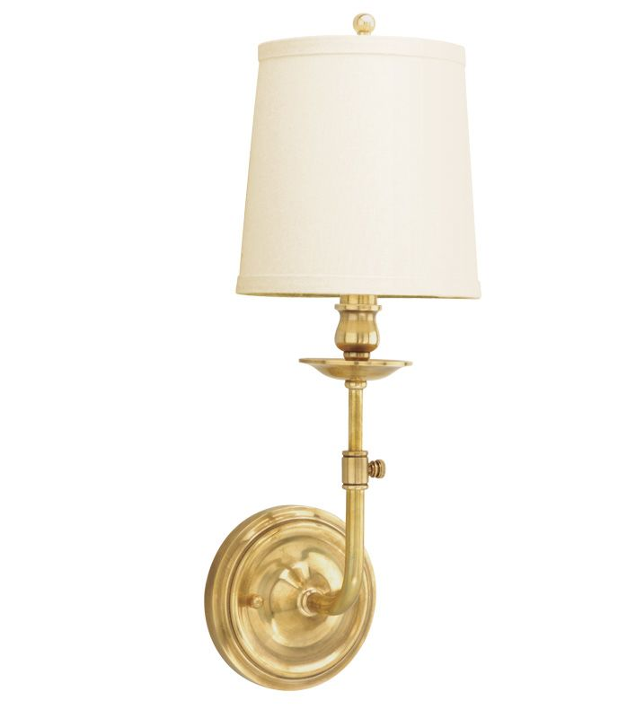 Hudson Valley Lighting 171 Logan 1 Light Wall Sconce with Linen Shade