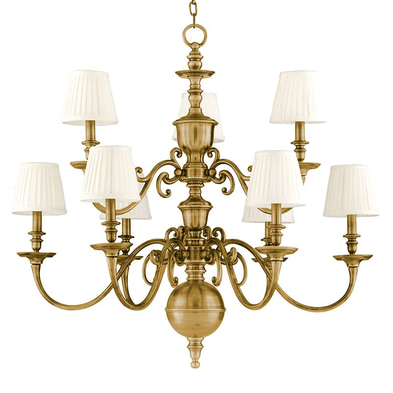 Hudson Valley Lighting 1749 Nine Light Up Lighting Cast Brass