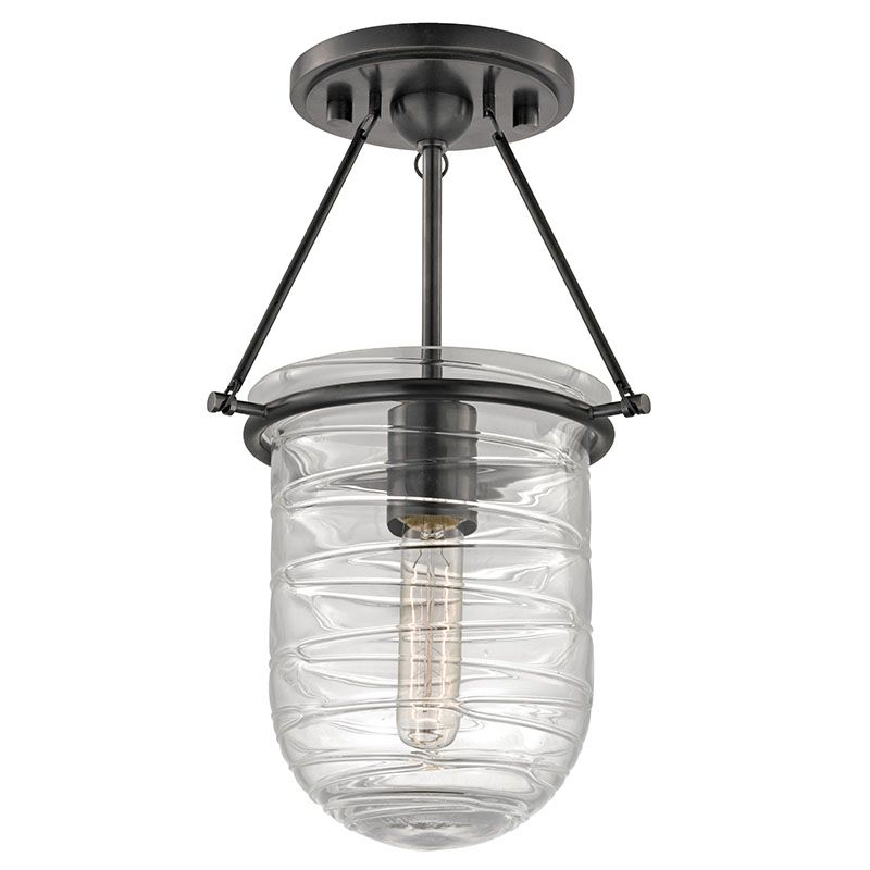 Hudson Valley Lighting 200 Willet 1 Light Semi-Flush Ceiling Fixture