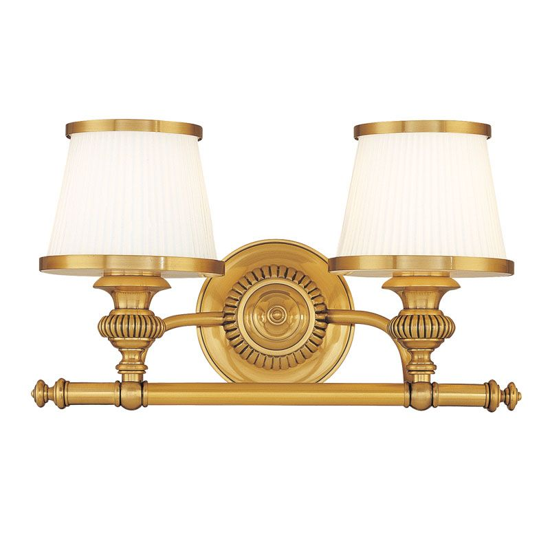 Hudson Valley Lighting 2002 Two Light Wall Sconce from the Milton Sale $320.00 ITEM#: 982403 MODEL# :2002-FB UPC#: 806134097806 :