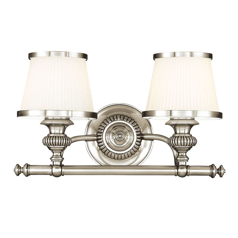 Hudson Valley Lighting 2002 Two Light Wall Sconce from the Milton Sale $320.00 ITEM#: 982404 MODEL# :2002-PN UPC#: 806134097820 :