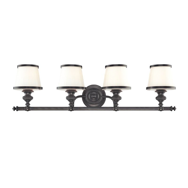 Hudson Valley Lighting 2004 Four Light Wall Sconce from the Milton Sale $536.00 ITEM#: 982409 MODEL# :2004-OB UPC#: 806134097875 Four Light Wall Sconce Hudson Valley Lighting designs and manufactures distinctive lighting found in the finest homes and upscale hospitality environments where discerning taste prevails. Styles include strong traditional, vintage, reproduction, and contemporary lighting. From the Classically Styled Milton Collection Artisan-level craftsmanship All-Metal Construction UL-Rated :