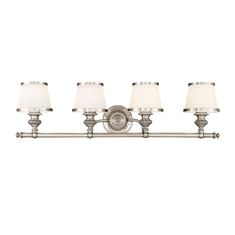 Hudson Valley Lighting 2004 Four Light Wall Sconce from the Milton Sale $536.00 ITEM#: 982410 MODEL# :2004-PN UPC#: 806134097882 Four Light Wall Sconce Hudson Valley Lighting designs and manufactures distinctive lighting found in the finest homes and upscale hospitality environments where discerning taste prevails. Styles include strong traditional, vintage, reproduction, and contemporary lighting. From the Classically Styled Milton Collection Artisan-level craftsmanship All-Metal Construction UL-Rated :