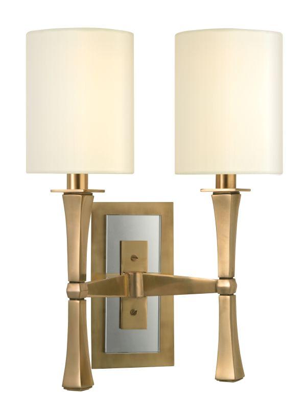 Hudson Valley Lighting 2112 York 2 Light Wall Sconce Aged Brass Indoor