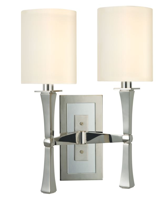 Hudson Valley Lighting 2112 York 2 Light Wall Sconce Polished Nickel