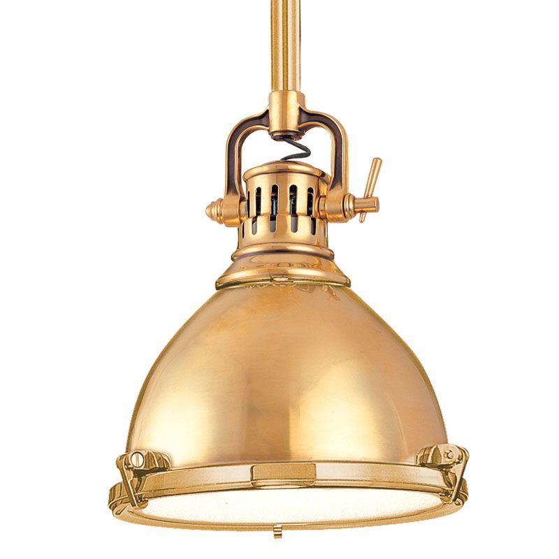 Hudson Valley Lighting 2210 Pelham 1 Light Cast Brass Industrial