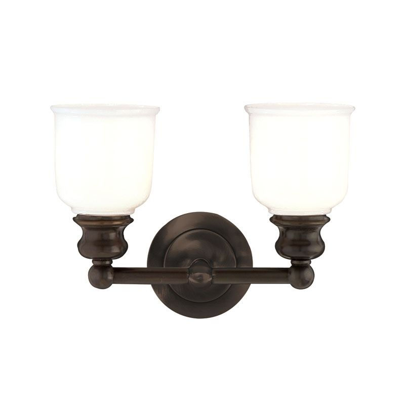 "Hudson Valley Lighting 2302 Two Light 14"" Wide Bathroom Fixture from Sale $278.00 ITEM#: 525583 MODEL# :2302-OB UPC#: 806134012076 :"