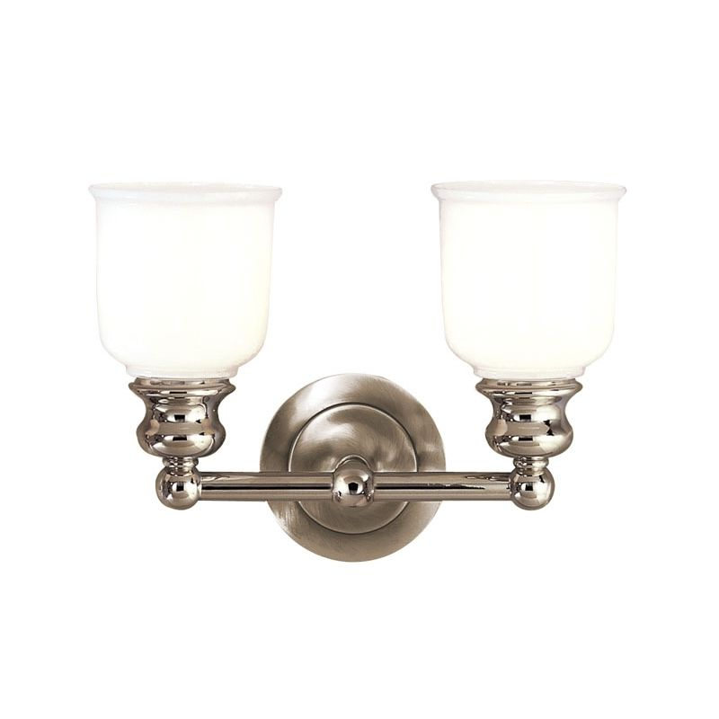 "Hudson Valley Lighting 2302 Two Light 14"" Wide Bathroom Fixture from Sale $278.00 ITEM#: 525584 MODEL# :2302-PN UPC#: 806134012083 :"
