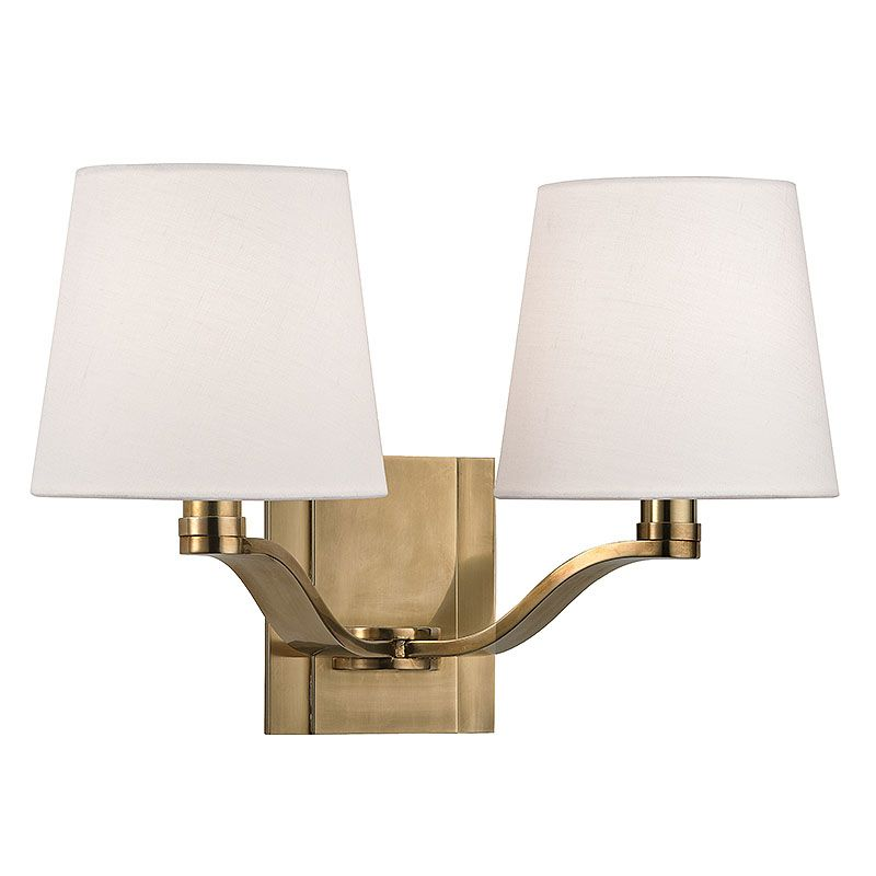 Hudson Valley Lighting 2462 Clayton 2 Light Double Wall Sconce with