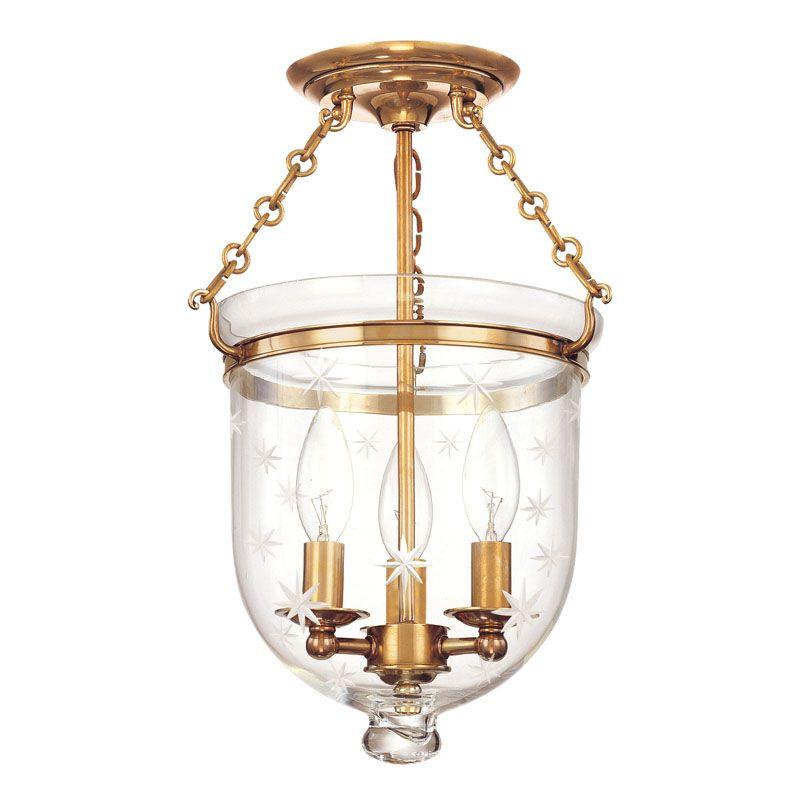 Hudson Valley Lighting 251-C3 Three Light Semi Flush Ceiling Fixture Sale $536.00 ITEM#: 983554 MODEL# :251-AGB-C3 UPC#: 806134056445 :