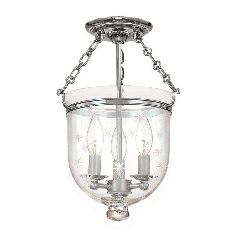 Hudson Valley Lighting 251-C3 Three Light Semi Flush Ceiling Fixture Sale $536.00 ITEM#: 983553 MODEL# :251-PN-C3 UPC#: 806134061289 :