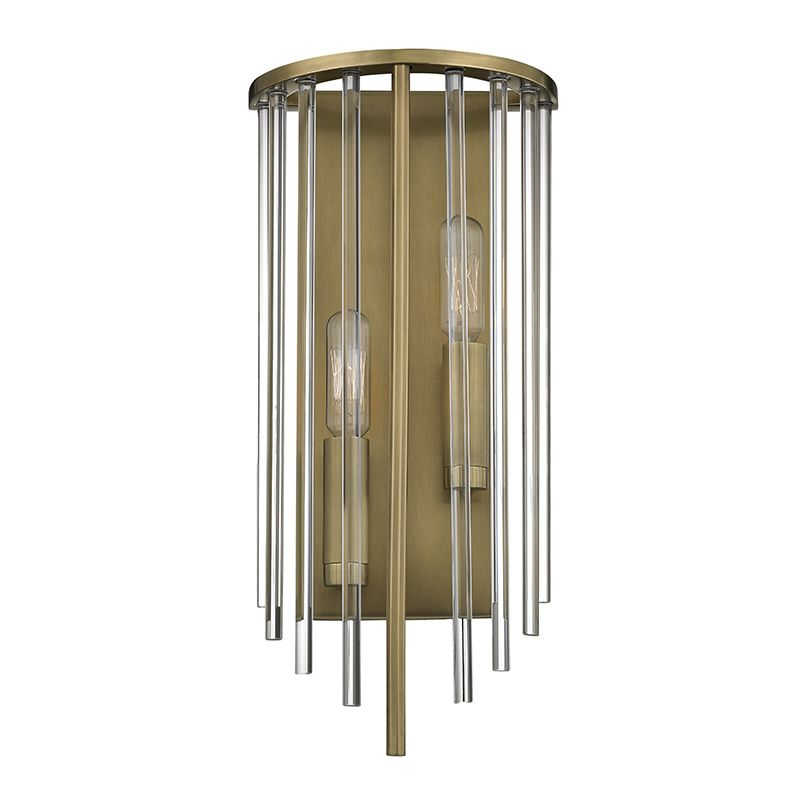 "Hudson Valley Lighting 2511 Lewis 2 Light ADA Compliant 15"" Tall Wall"