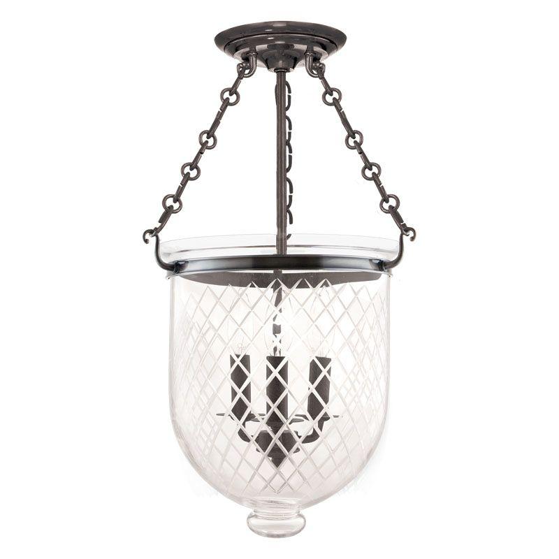 Hudson Valley Lighting 253-C2 Three Light Semi Flush Ceiling Fixture Sale $696.00 ITEM#: 983620 MODEL# :253-HN-C2 UPC#: 806134056513 :