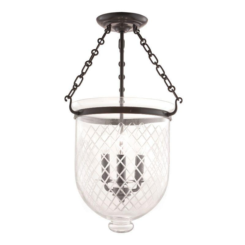 Hudson Valley Lighting 253-C2 Three Light Semi Flush Ceiling Fixture Sale $696.00 ITEM#: 983621 MODEL# :253-OB-C2 UPC#: 806134056636 :