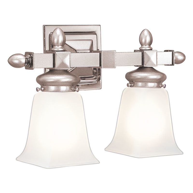 "Hudson Valley Lighting 2822 Two Light 15"" Wide Bathroom Fixture from Sale $278.00 ITEM#: 523807 MODEL# :2822-SN UPC#: 806134013455 :"
