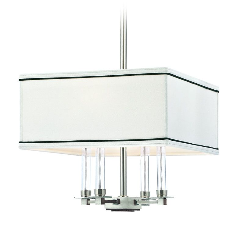 Hudson Valley Lighting 2914 Collins 4 Light Chandelier Polished Nickel