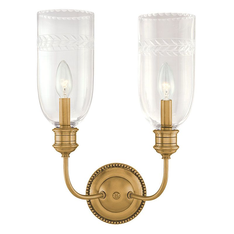 Hudson Valley Lighting 292 Two Light Wall Sconce from the Lafayette