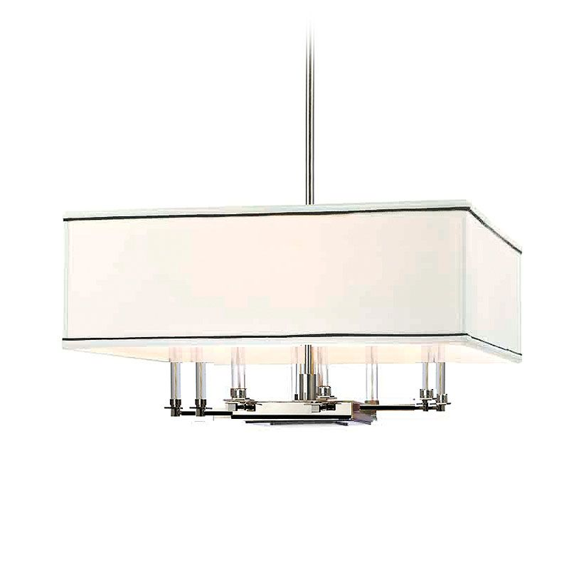 Hudson Valley Lighting 2924 Collins 8 Light Chandelier Polished Nickel