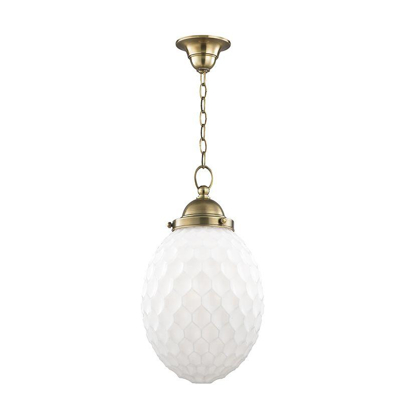 "Hudson Valley Lighting 3010 Columbia Single Light 10"" Pendant with"