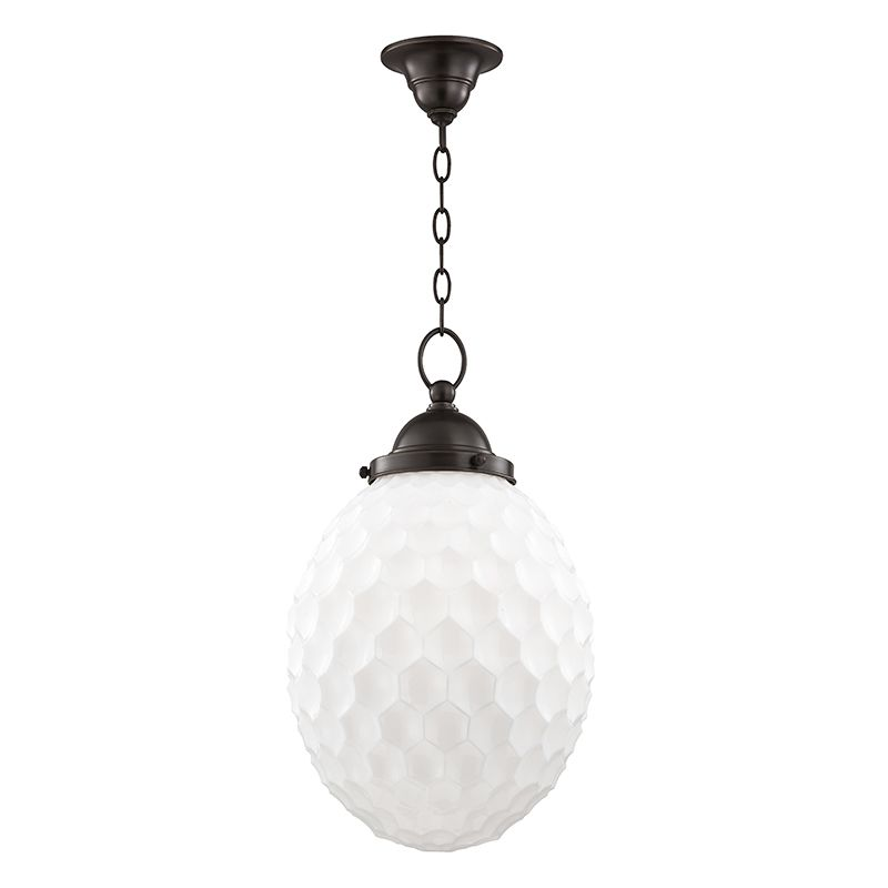 "Hudson Valley Lighting 3012 Columbia Single Light 12"" Pendant with"