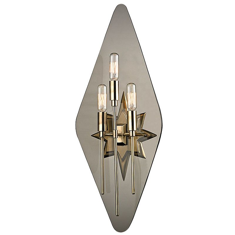 Hudson Valley Lighting 310 Westport 3 Light Wall Sconce with Tungsten Sale $430.00 ITEM#: 2402465 MODEL# :310-AGB-S UPC#: 806134173937 :