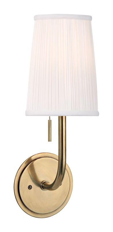 Hudson Valley Lighting 311 Sanford 1 Light Wall Sconce Aged Brass