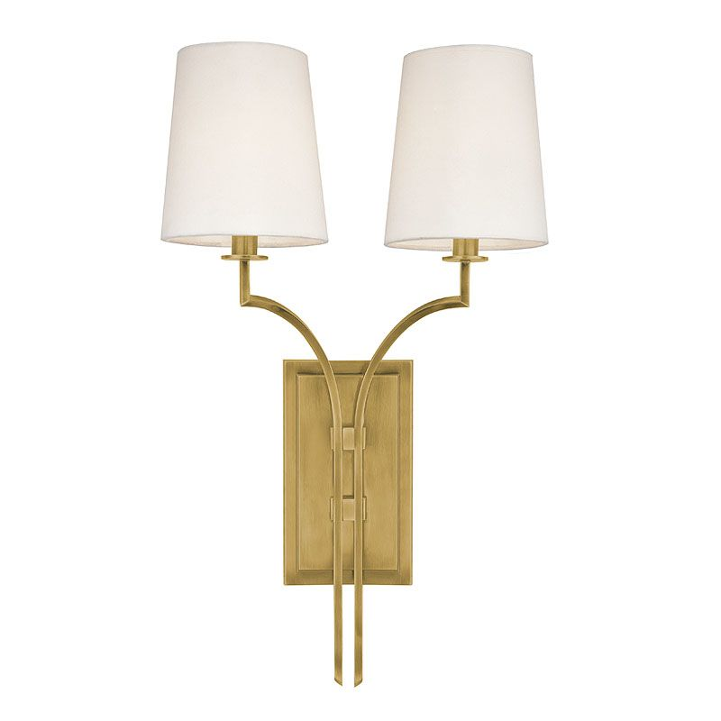 Hudson Valley Lighting 3112 Glenford 2 Light Wall Sconce Aged Brass