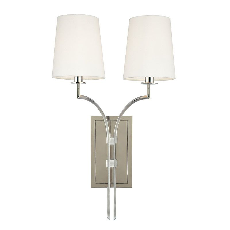 Hudson Valley Lighting 3112 Glenford 2 Light Wall Sconce Polished