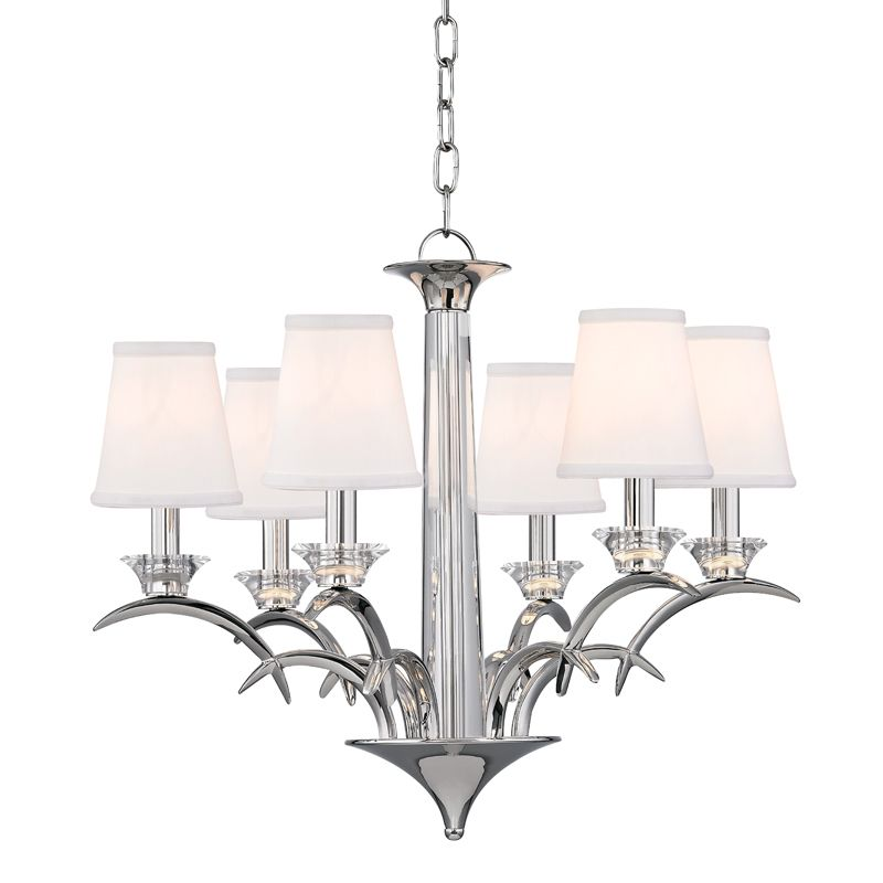 "Hudson Valley Lighting 3196 Marcellus 6 Light 25"" Wide Chandelier with"