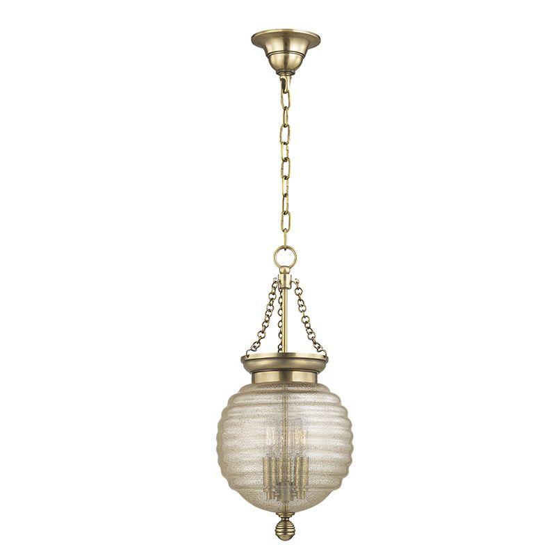"Hudson Valley Lighting 3210 Coolidge 3 Light 21"" Pendant with Beehive"