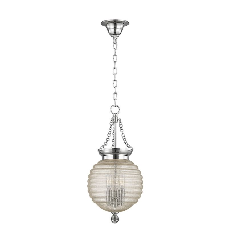 "Hudson Valley Lighting 3210 Coolidge 3 Light 21"" Pendant with Beehive"