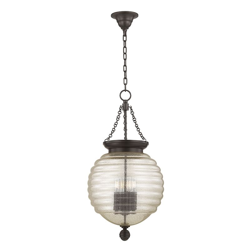 "Hudson Valley Lighting 3214 Coolidge 4 Light 27"" Pendant with Beehive"