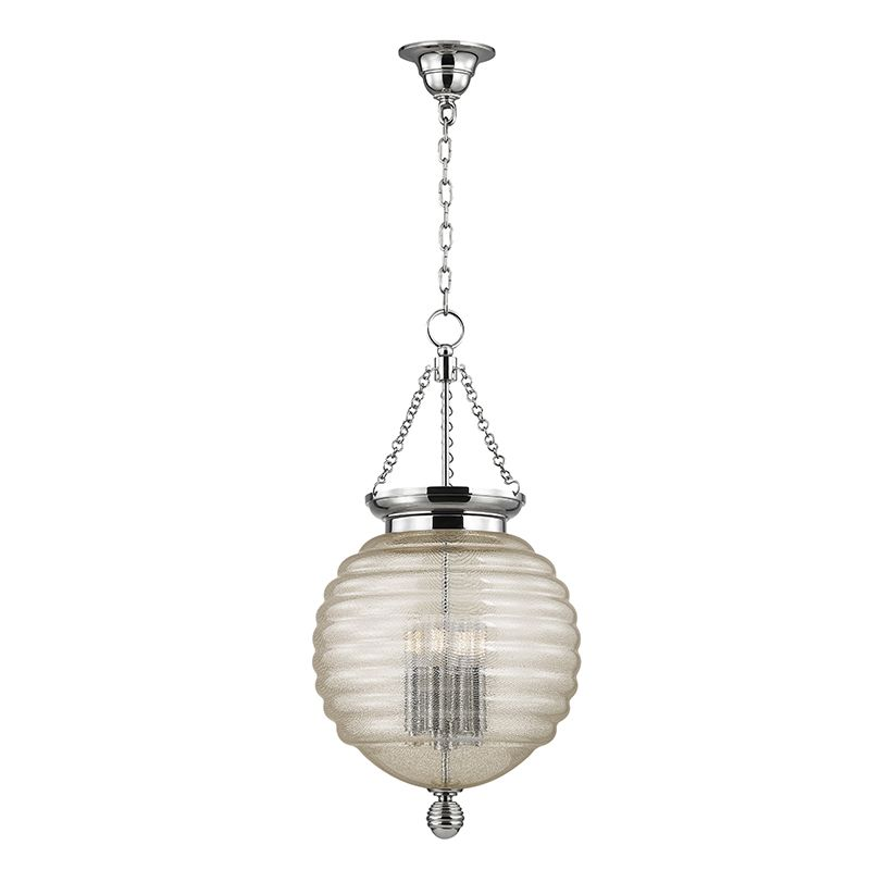 "Hudson Valley Lighting 3214 Coolidge 4 Light 27"" Pendant with Beehive"