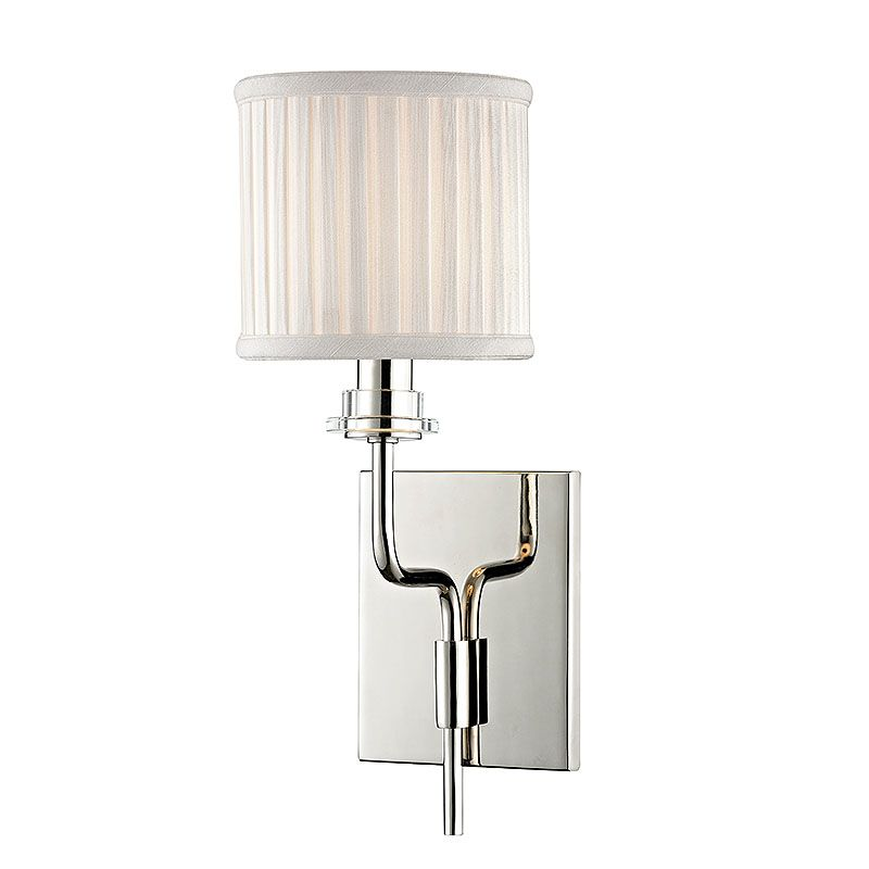 Hudson Valley Lighting 3351 Gorham 1 Light Wall Sconce with Pleated