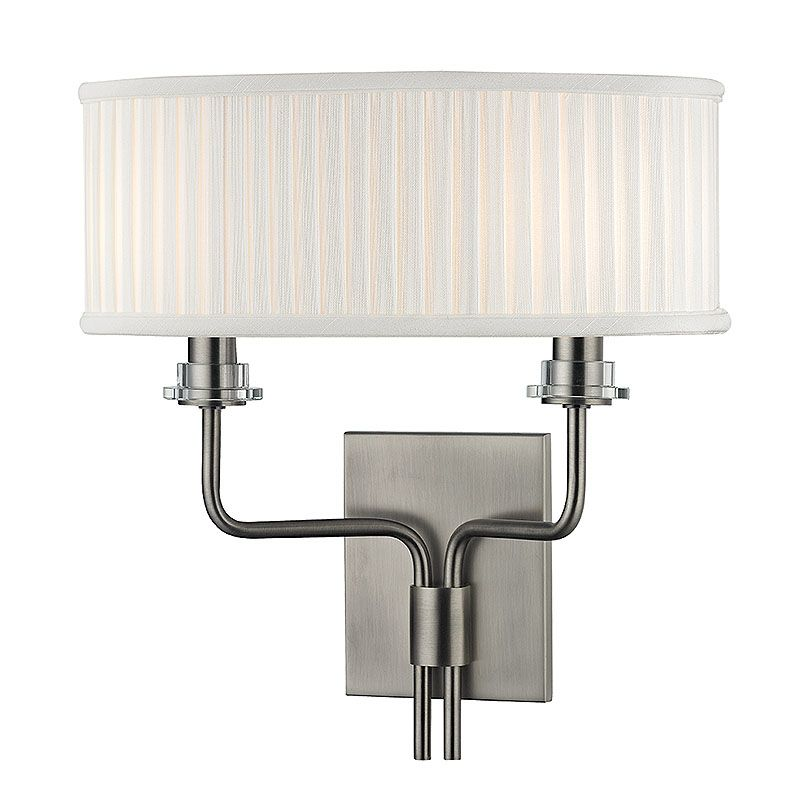 Hudson Valley Lighting 3352 Gorham 2 Light Wall Sconce with Pleated