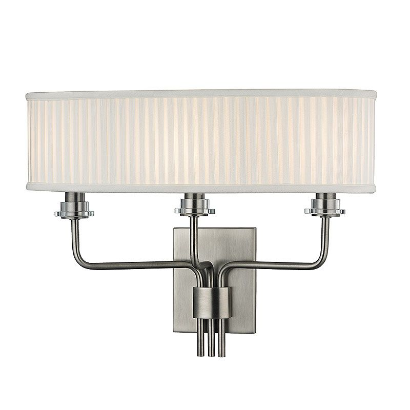 Hudson Valley Lighting 3353 Gorham 3 Light Wall Sconce with Pleated