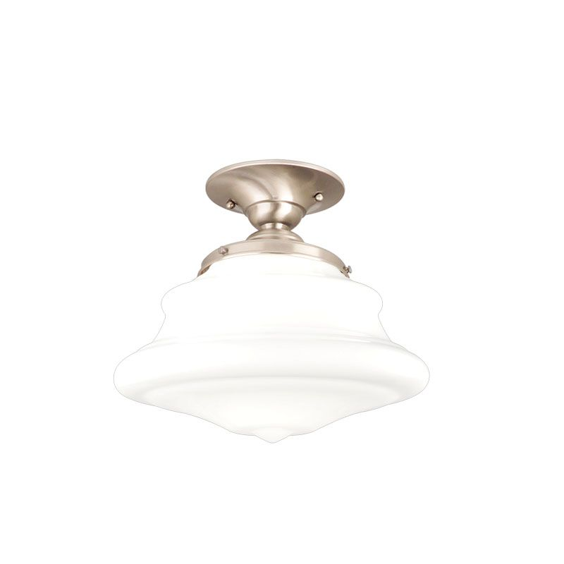 Hudson Valley Lighting 3409F One Light Semi Flush Ceiling Fixture from Sale $179.00 ITEM#: 984405 MODEL# :3409F-SN UPC#: 806134018993 :