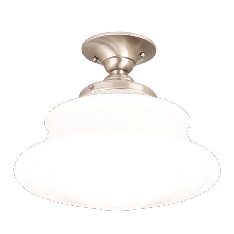 Hudson Valley Lighting 3412F Single Light Semi Flush Ceiling Mount Sale $219.00 ITEM#: 524973 MODEL# :3412F-SN UPC#: 806134019006 :