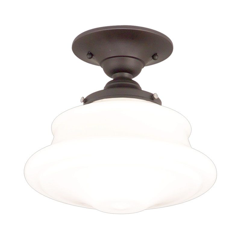 """Hudson Valley Lighting 3416F Single Light Semi Flush Ceiling Mount Sale $279.00 ITEM#: 524975 MODEL# :3416F-OB UPC#: 806134023331 Petersburg Collection 1 Light Ceiling Fixture 16"""" D x 12 1/2"""" H 1-150w Medium Base (Not Included) All downlight stem Fixture are supplied with swivels for sloped Ceilings All stem models come with four different lengths of stem (3"""", 6"""", 12"""", 18"""") which can be used separately or in combination to achieve up to 39"""" total stem length. :"""