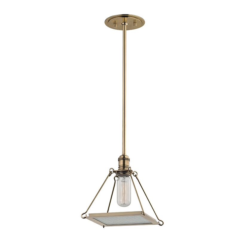 "Hudson Valley Lighting 3521 Thorndike Single Light 7"" Pendant with"